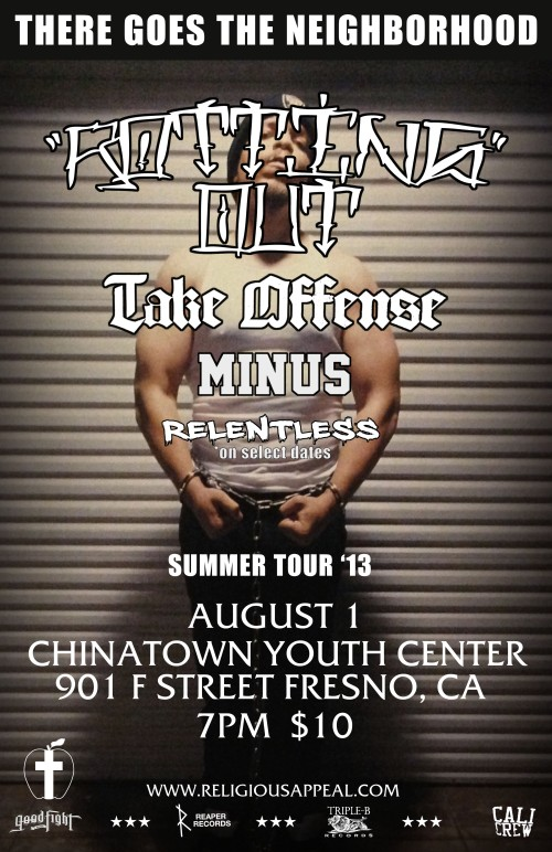 Rotting Out, Take Offense & Minus at CYC on 8/1